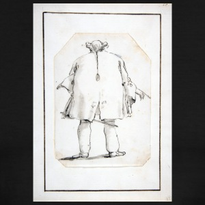 Caricature of a Fat Man, Seen From Behind - Men's Ringer T-Shirt