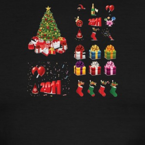 Christmas Elements 9 - Men's Ringer T-Shirt