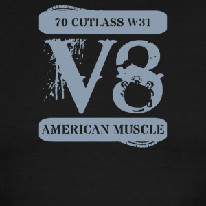 1970 Oldsmobile Cutlass W31 Muscle Car V8 - Men's Ringer T-Shirt