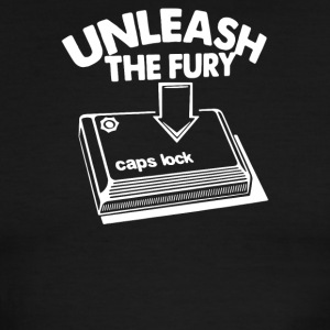 Caps Lock Unleash The Fury - Men's Ringer T-Shirt