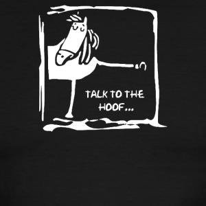 Talk To The Hoof - Men's Ringer T-Shirt