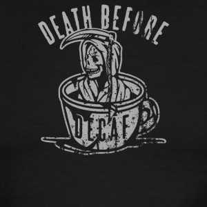 Death Before Decaf - Men's Ringer T-Shirt