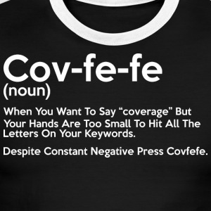 Covfefe Noun Meaning - Men's Ringer T-Shirt