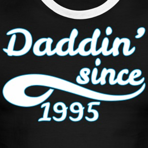 Daddin Since 1995 Happy Fathers Day - Men's Ringer T-Shirt
