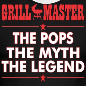 Grillmaster The Pops The Myth The Legend BBQ - Men's Ringer T-Shirt