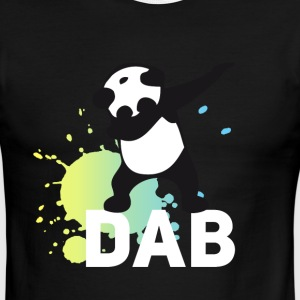 dabbing football touchdown mooving dance panda - Men's Ringer T-Shirt