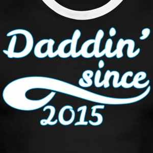 Daddin Since 2015 Happy Fathers Day - Men's Ringer T-Shirt
