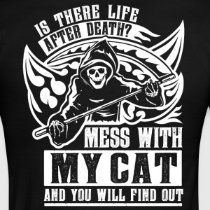 Is there life after death? Touch my my cat and... - Men's Ringer T-Shirt