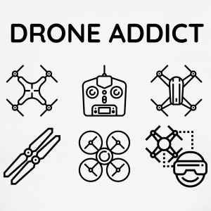 Drone addict - Men's Ringer T-Shirt