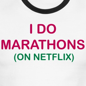 I Do Marathons - Men's Ringer T-Shirt