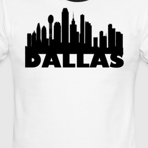 Dallas Skyline Basic Tee - Men's Ringer T-Shirt