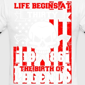 Life Begins At Thirty 1986 The Birth Of Legends - Men's Ringer T-Shirt