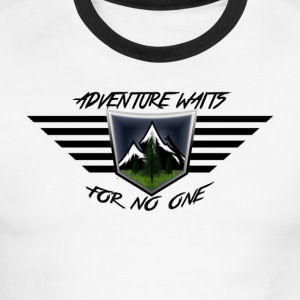 Adventure Waits for No One (Color) - Men's Ringer T-Shirt