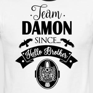 Team Damon Since Hello Brother - Men's Ringer T-Shirt