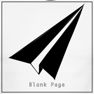 Blank Page Paper Airplane - Men's Ringer T-Shirt