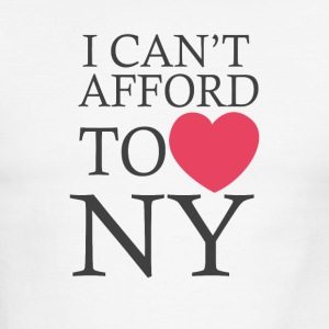 I Can t Afford To Love Ny - Men's Ringer T-Shirt