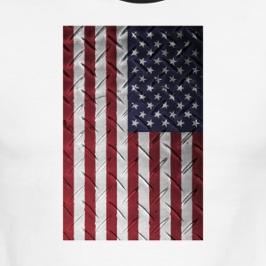 USA flag Metal Structure, Patriotic USA Flag Shirt - Men's Ringer T-Shirt