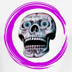 skull in pink circle - Men's Ringer T-Shirt