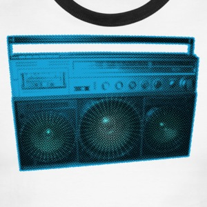 Boombox - Old school - Ghetto Blaster - Men's Ringer T-Shirt