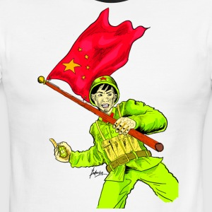 Chinese Soldier With Grenade - Men's Ringer T-Shirt