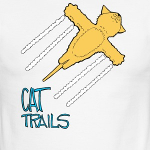Conspiracy Theory Dave The Cat CatTrails - Men's Ringer T-Shirt