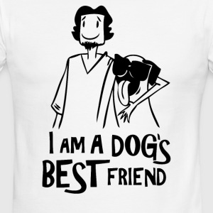 DOG S BEST FRIEND - T-shirt à bords contrastants pour hommes American Apparel