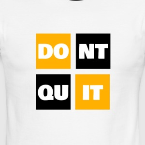Don't Quit, Do It Sports Fitness Wear Apparel - Men's Ringer T-Shirt