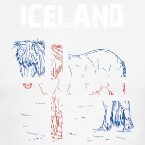 Nation-Design Iceland Iceland Horse - Men's Ringer T-Shirt