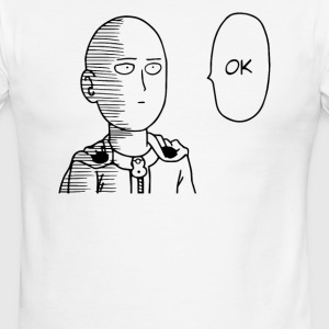 One punch man Saitama ok anime manga style - Men's Ringer T-Shirt