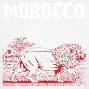 Nation-Design Morocco Lion - Men's Ringer T-Shirt