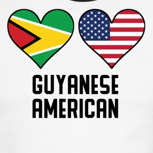 Guyanese American Heart Flags - Men's Ringer T-Shirt