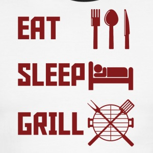 Eat Sleep Grill - Men's Ringer T-Shirt
