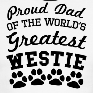 Proud Dad Of The World's Greatest Westie - Men's Ringer T-Shirt