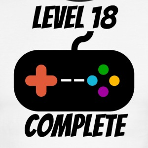 Level 18 Complete 18th Birthday - Men's Ringer T-Shirt