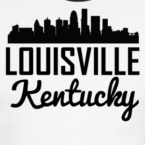 Louisville Kentucky Skyline - Men's Ringer T-Shirt