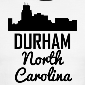 Durham North Carolina Skyline - Men's Ringer T-Shirt