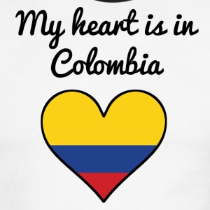 My Heart Is In Colombia - Men's Ringer T-Shirt
