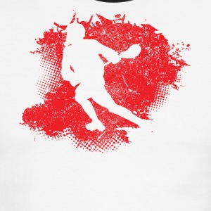 Lacrosse Paint Splatter - Men's Ringer T-Shirt