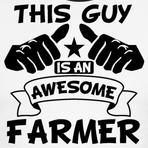 Shop funny farm t shirts online spreadshirt for This guy has an awesome girlfriend shirt
