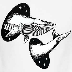 Whale Space Funny T-Shirt - Men's Ringer T-Shirt