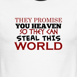 TheyStealThisWorld - Men's Ringer T-Shirt