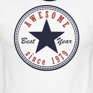 38th Birthday Awesome since T Shirt Made in 1979 - Men's Ringer T-Shirt