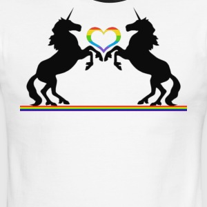 Totally Straight Unicorn Rainbow Gay Pride - Men's Ringer T-Shirt