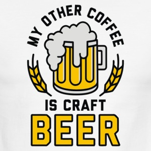 My Other Coffee is Craft Beer - Men's Ringer T-Shirt