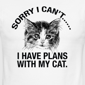 Sorry I cant..I Have Plans With My Cat tshirt - Men's Ringer T-Shirt