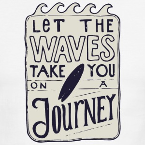 Let the waves take you on a journey - Men's Ringer T-Shirt