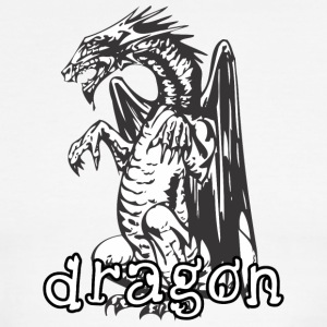 dog_style_sitting_dragon - Men's Ringer T-Shirt