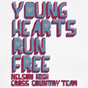 YOUNG HEARS RUN FREE NELSON HIGH CROSS COUNTRY TEA - Men's Ringer T-Shirt