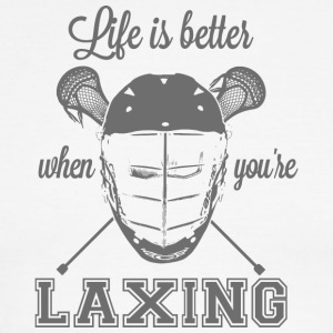 Life is better when you're laxing - Men's Ringer T-Shirt