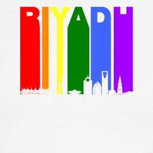 Riyadh Skyline Rainbow LGBT Gay Pride - Men's Ringer T-Shirt